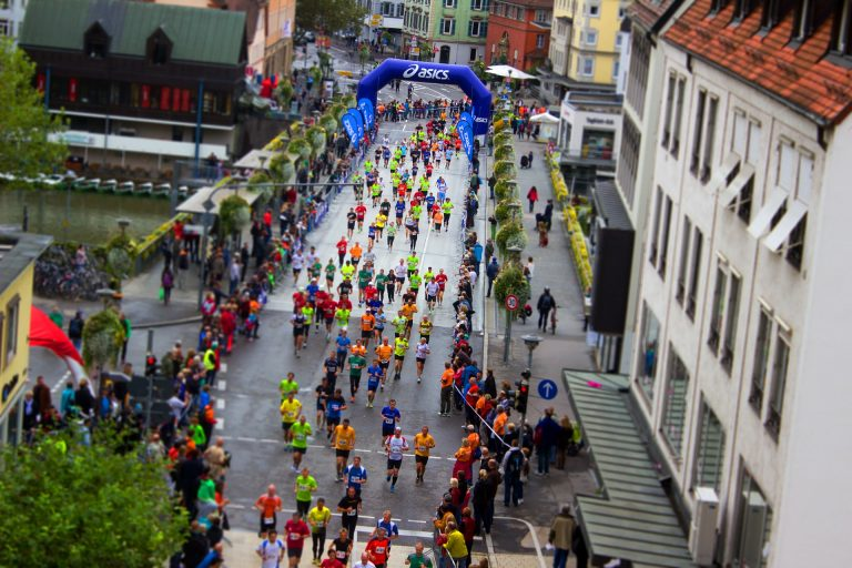 Sporing event on the city street