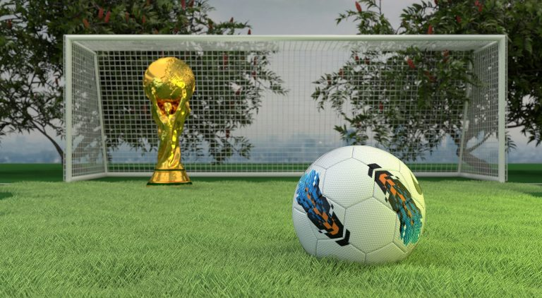 worldcup trophy and the football ball